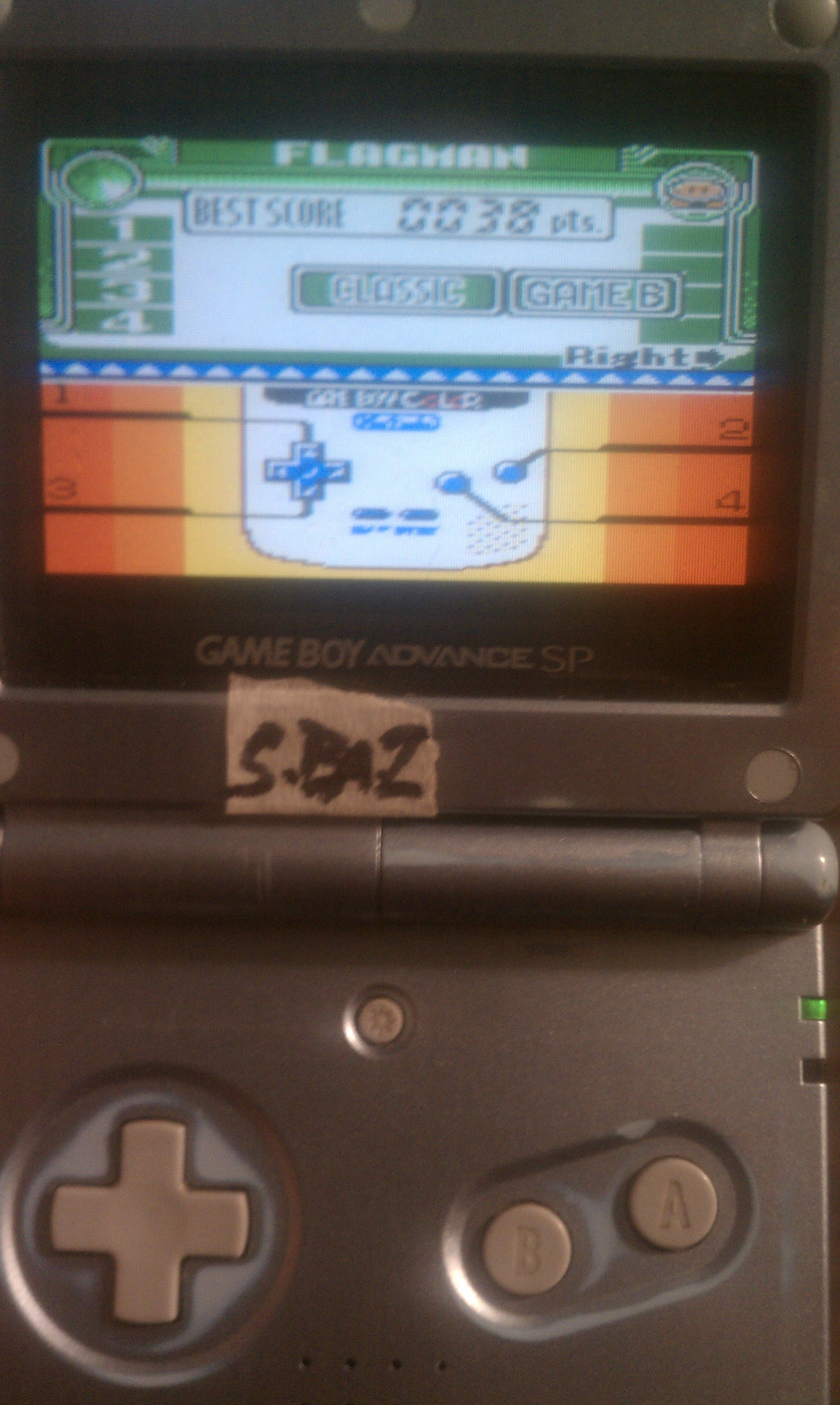 Game & Watch Gallery 3: Flagman [Classic: Game B] 38 points