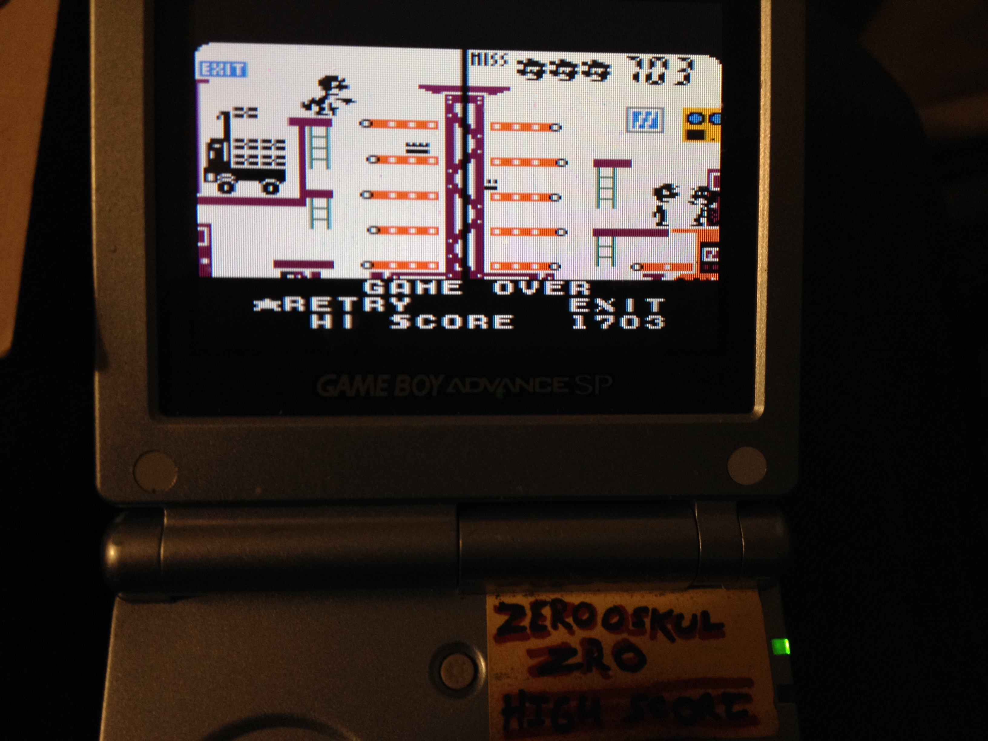 zerooskul: Game & Watch Gallery 3: Mario Bros: Classic: Easy (Game Boy Color) 1,703 points on 2019-04-20 12:57:41