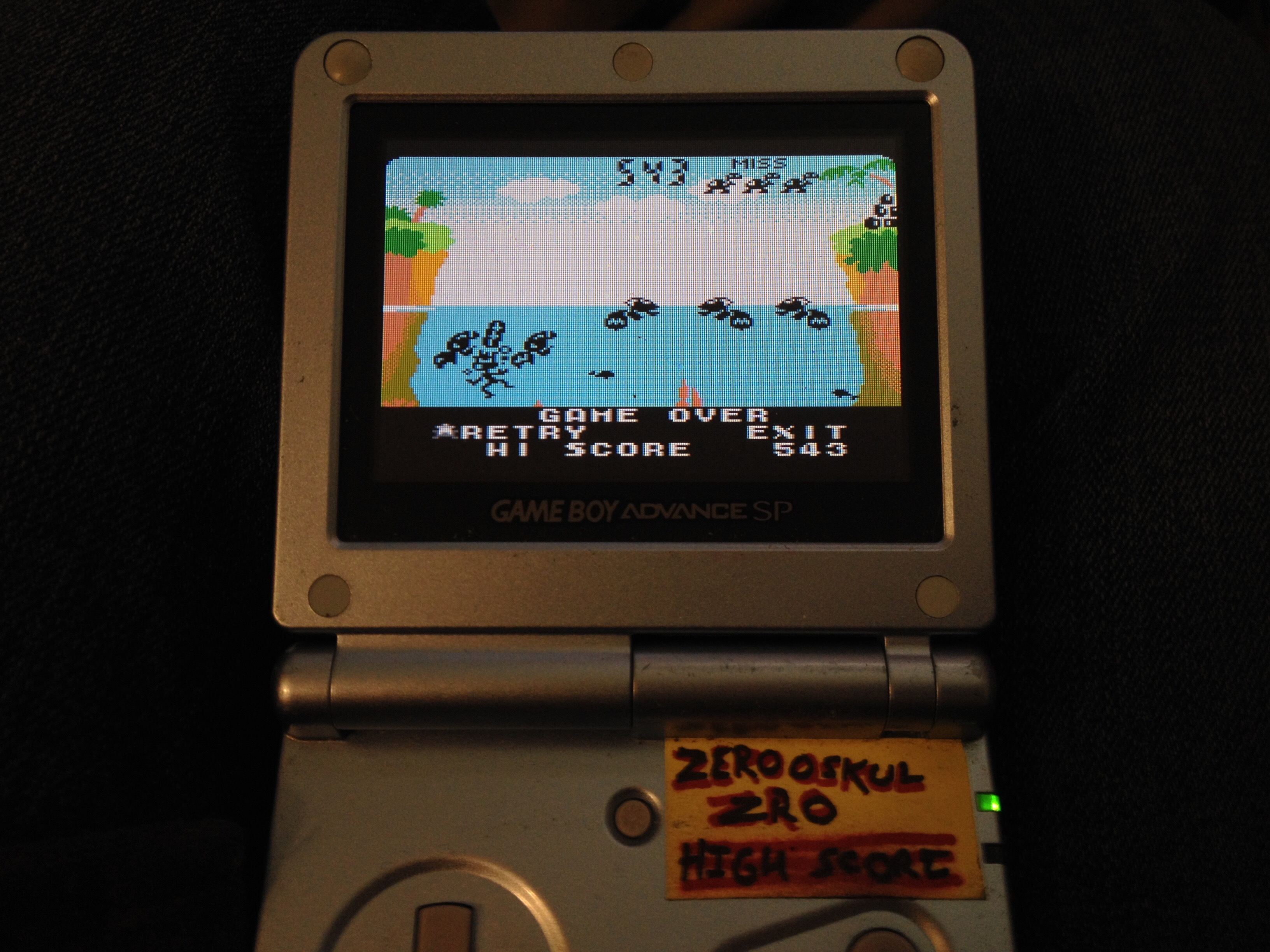 Game & Watch Gallery 3: Turtle Bridge: Classic: Hard 543 points