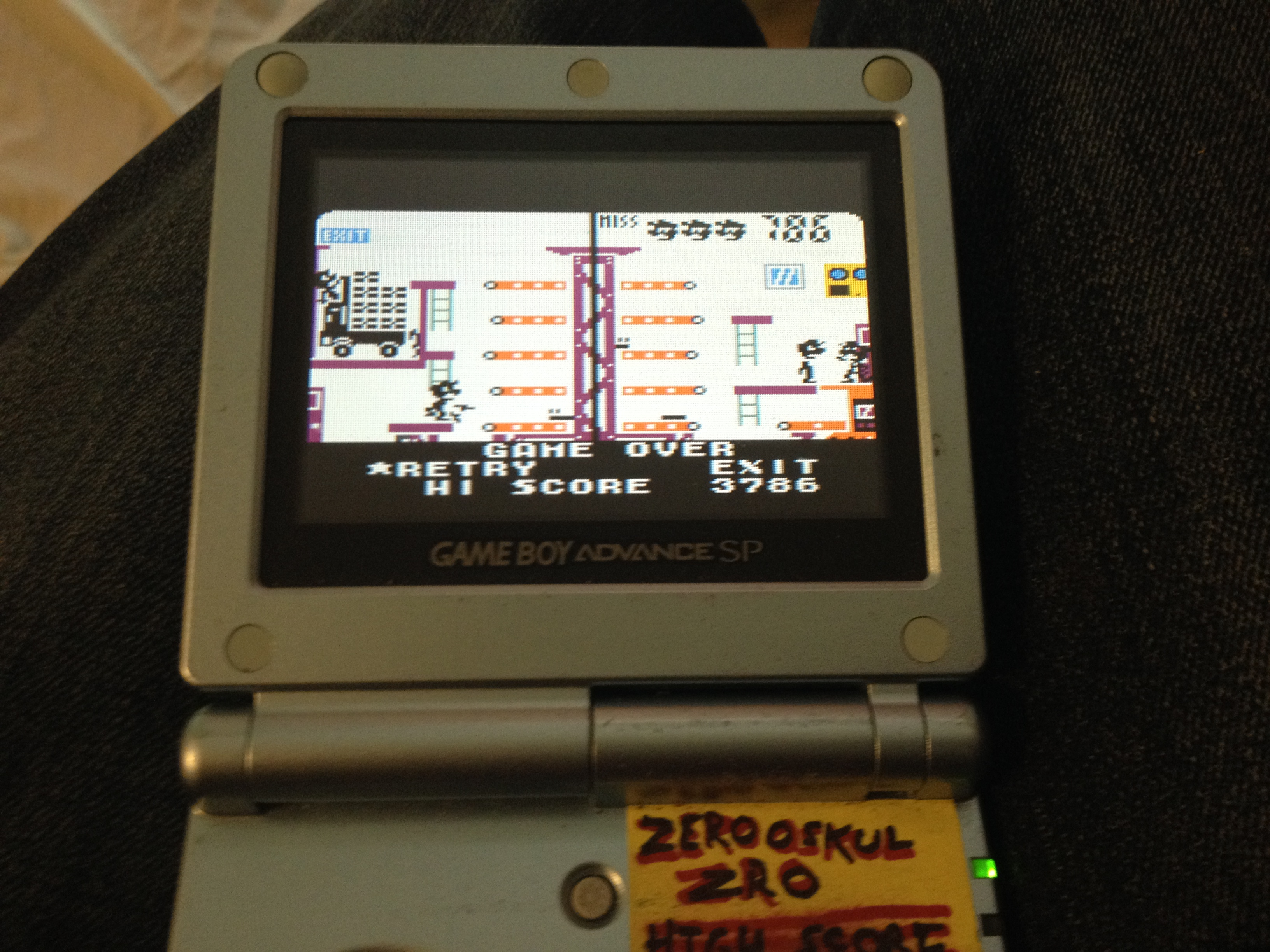 Game & Watch Gallery 3: Mario Bros: Classic: Easy 3,786 points