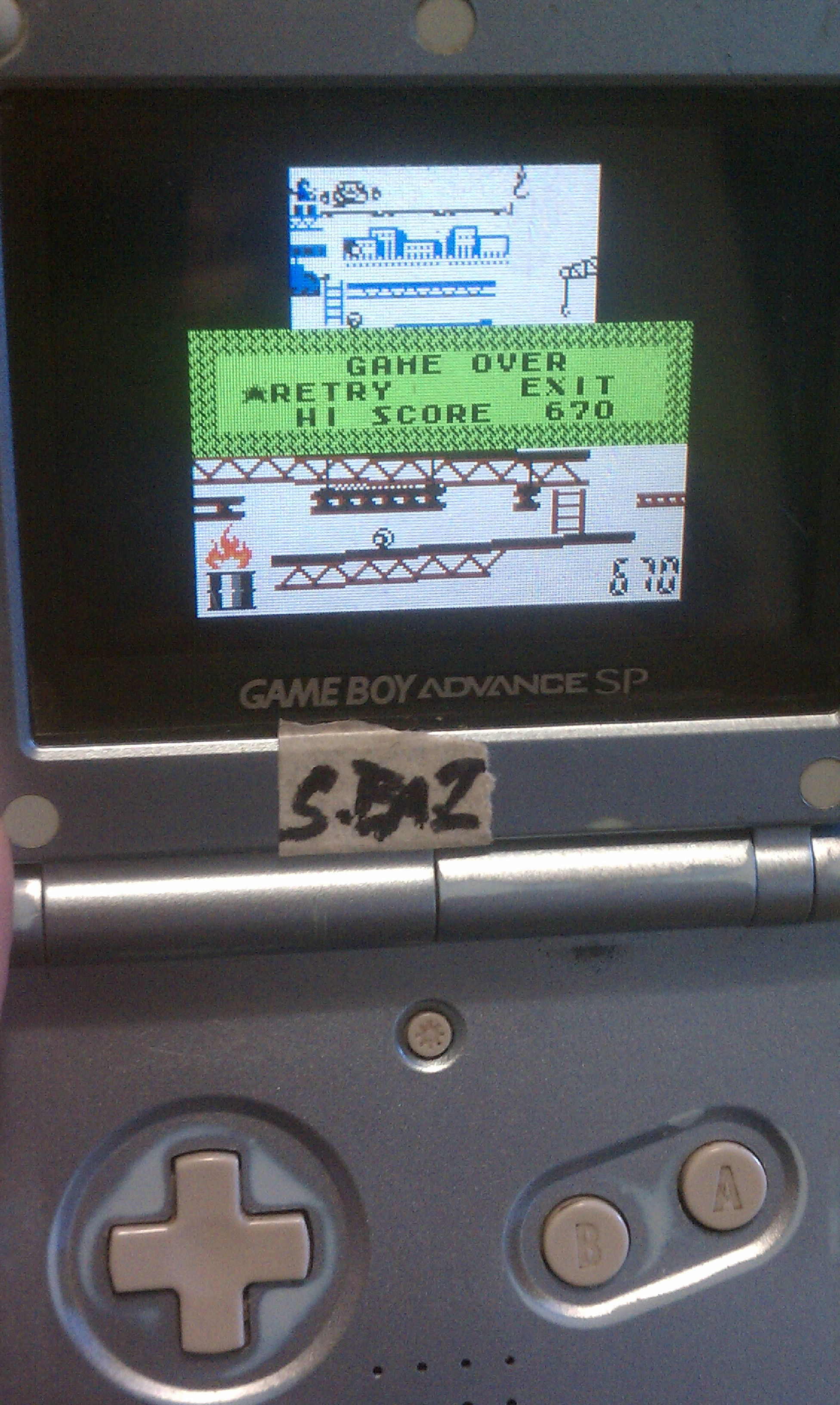 Game & Watch Gallery 2: Donkey Kong: Classic: Hard 670 points