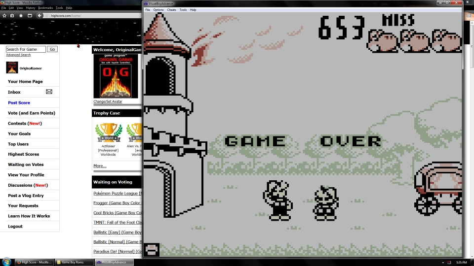 OriginalGamer: Game & Watch Gallery: Fire [Modern: Easy] (Game Boy Emulated) 653 points on 2016-07-15 16:07:41