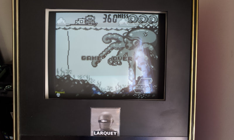 Larquey: Game & Watch Gallery: Octopus [Modern: Easy] (Game Boy Emulated) 360 points on 2018-05-08 10:24:16
