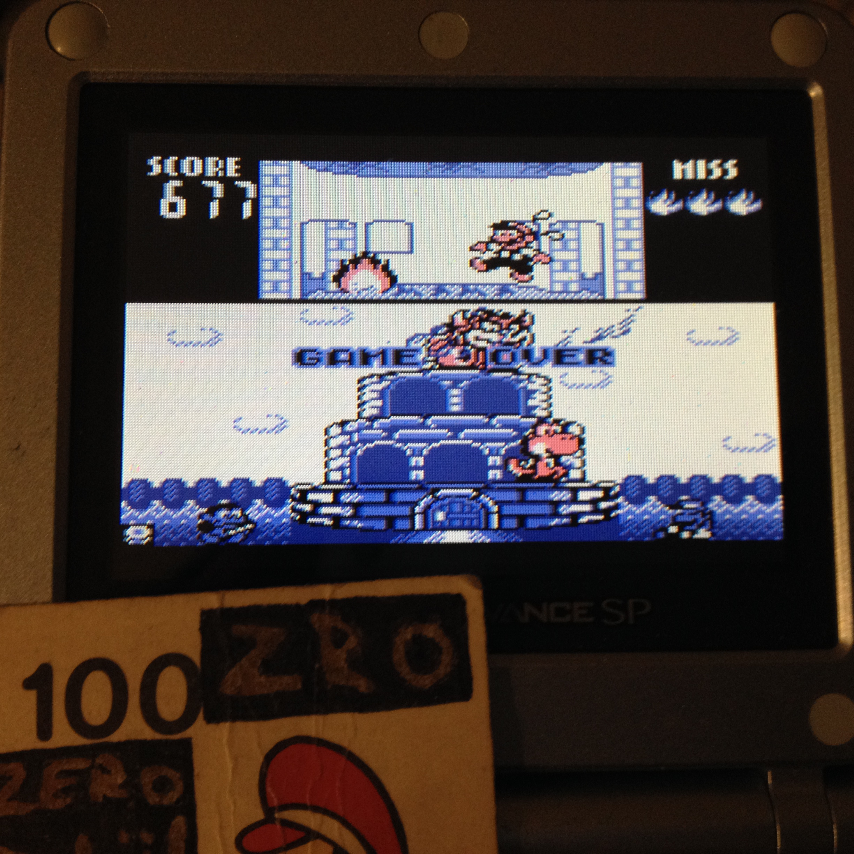 zerooskul: Game & Watch Gallery: Oil Panic [Modern: Hard] (Game Boy) 677 points on 2019-05-29 23:21:22