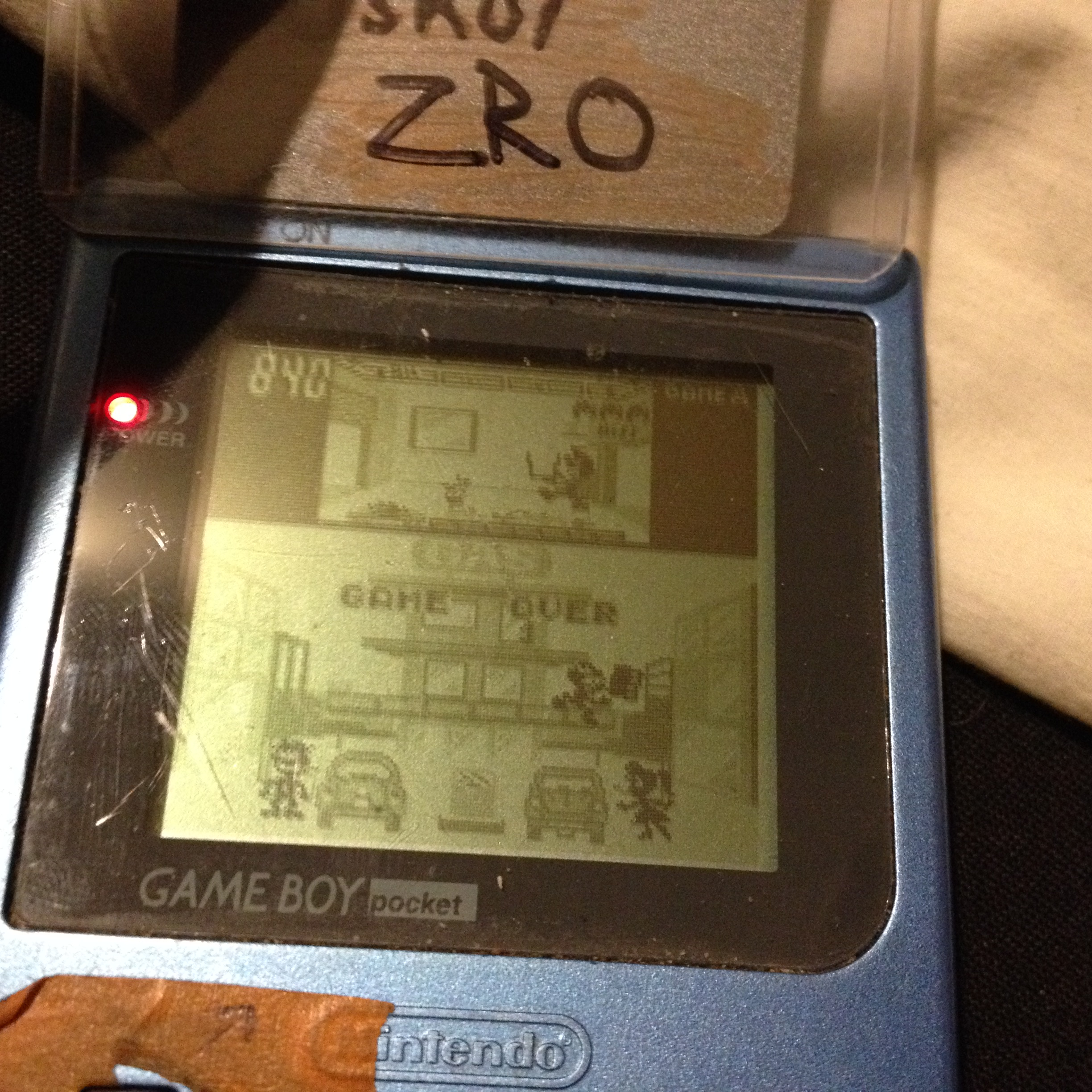 zerooskul: Game & Watch Gallery: Oil Panic [Classic: Easy] (Game Boy) 840 points on 2019-07-07 20:17:57