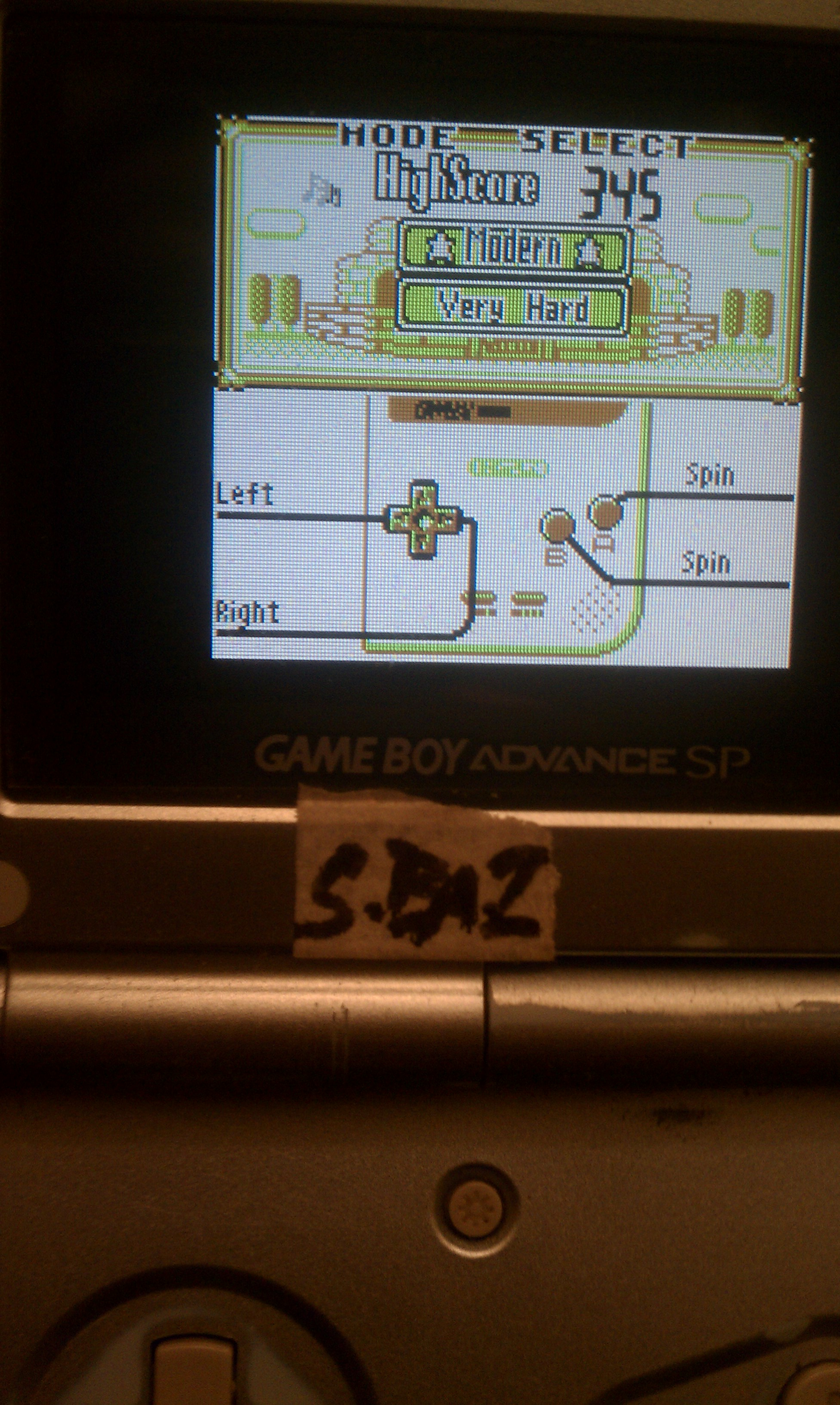 S.BAZ: Game & Watch Gallery: Oil Panic [Modern: Very Hard] (Game Boy) 345 points on 2020-07-12 00:16:37