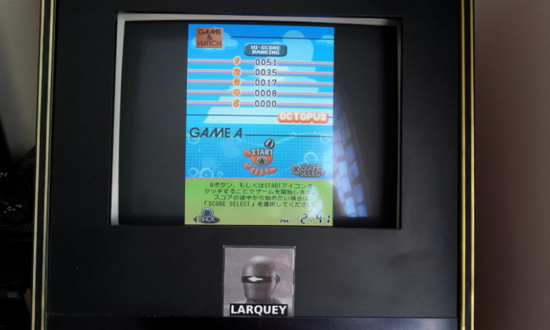 Larquey: Game & Watch Collection 2: Octopus [Game A] (Nintendo DS Emulated) 51 points on 2018-05-05 09:53:57