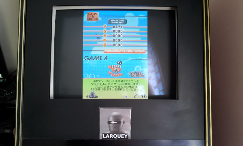 Larquey: Game & Watch Collection 2: Parachute & Octopus [Game A] (Nintendo DS Emulated) 174 points on 2018-05-05 09:55:13