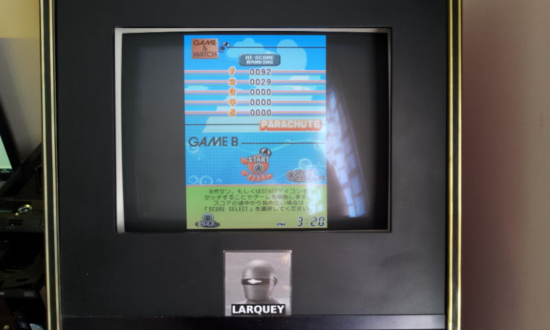 Larquey: Game & Watch Collection 2: Parachute [Game B] (Nintendo DS Emulated) 92 points on 2018-05-05 10:30:42