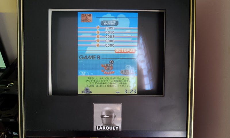 Larquey: Game & Watch Collection 2: Octopus [Game B] (Nintendo DS Emulated) 20 points on 2018-05-05 10:30:54
