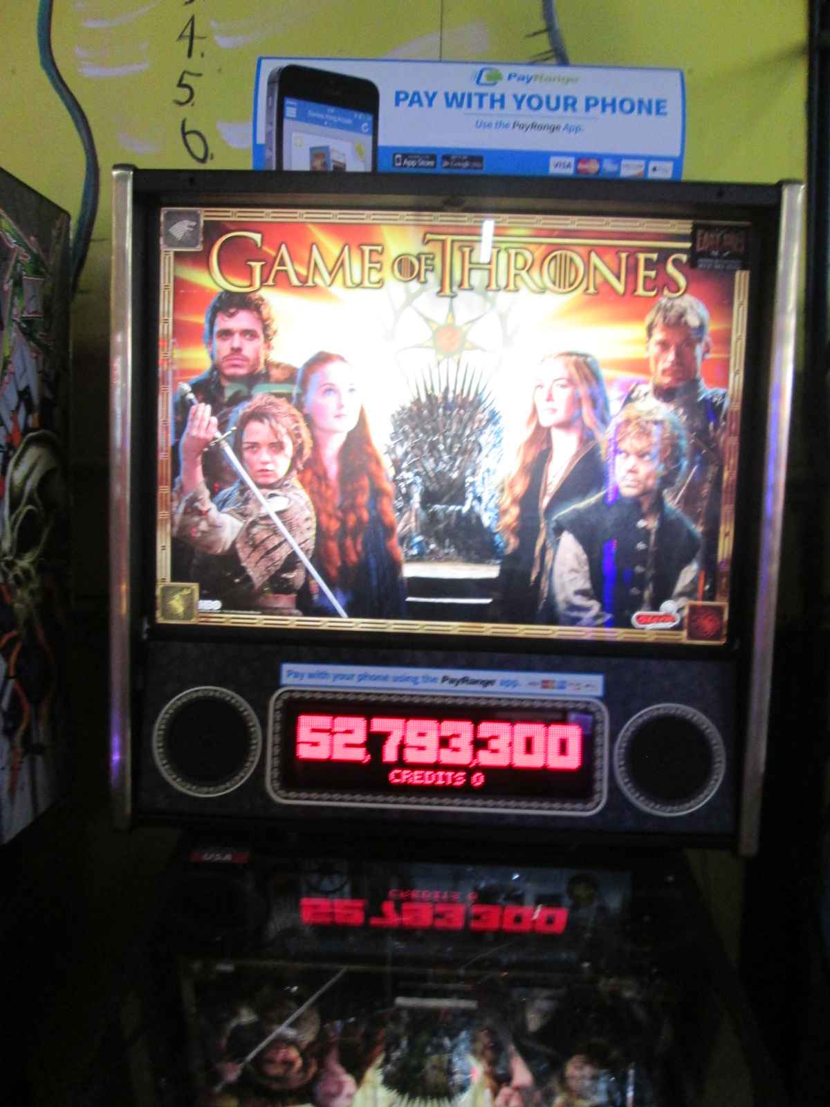 ed1475: Game Of Thrones (Pinball: 3 Balls) 52,793,300 points on 2016-08-25 18:59:16