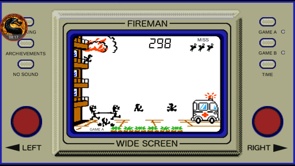 omargeddon: Game & Watch: Fire [aka Fireman Fireman] [Game A] (Dedicated Handheld Emulated) 298 points on 2018-08-23 11:00:32