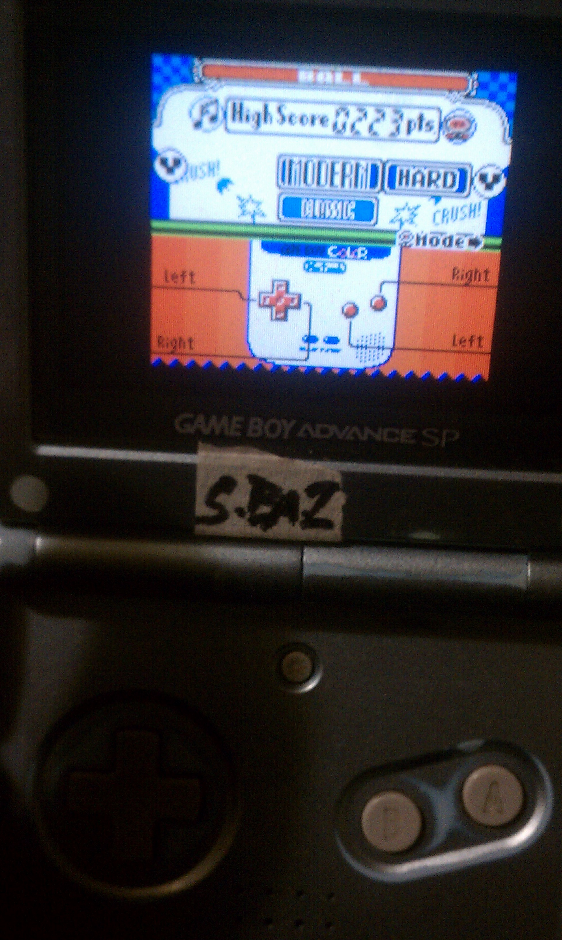 S.BAZ: Game & Watch Gallery 2: Ball [Modern: Hard] (Game Boy Color) 223 points on 2017-05-17 20:39:24