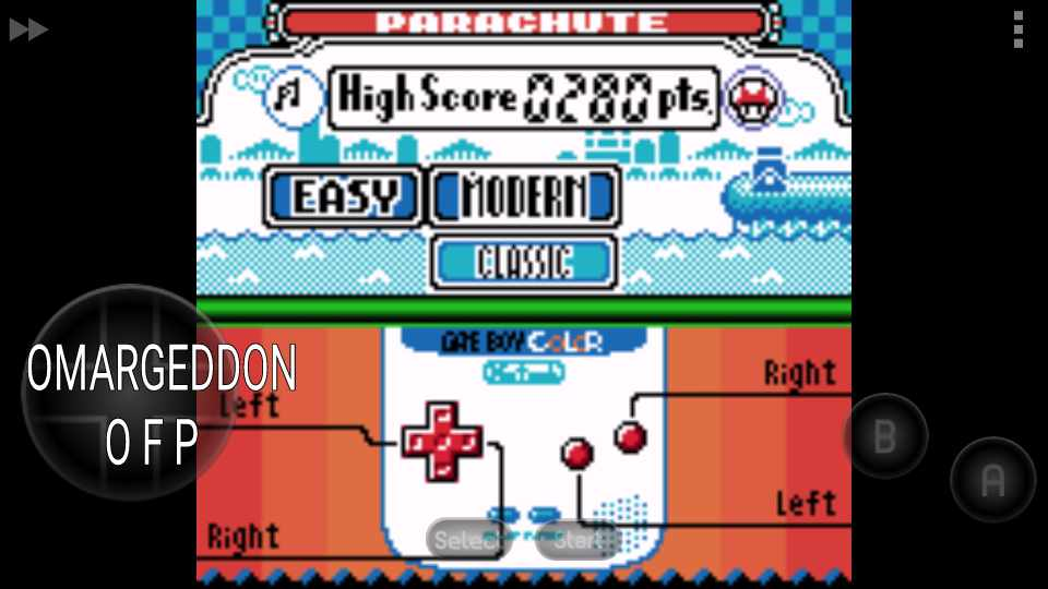 omargeddon: Game & Watch Gallery 2: Parachute: Modern: Easy (Game Boy Color Emulated) 280 points on 2016-11-14 00:05:55