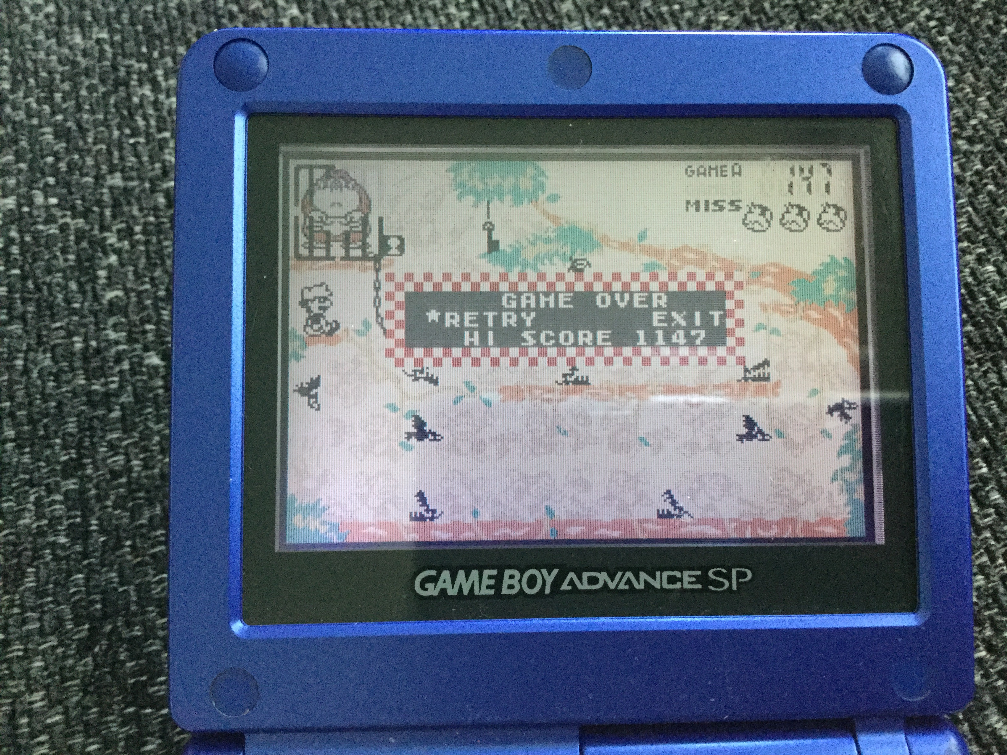 Frankie: Game & Watch Gallery 4: Donkey Kong Jr. [Classic: Easy] (GBA) 1,147 points on 2018-05-03 12:55:43