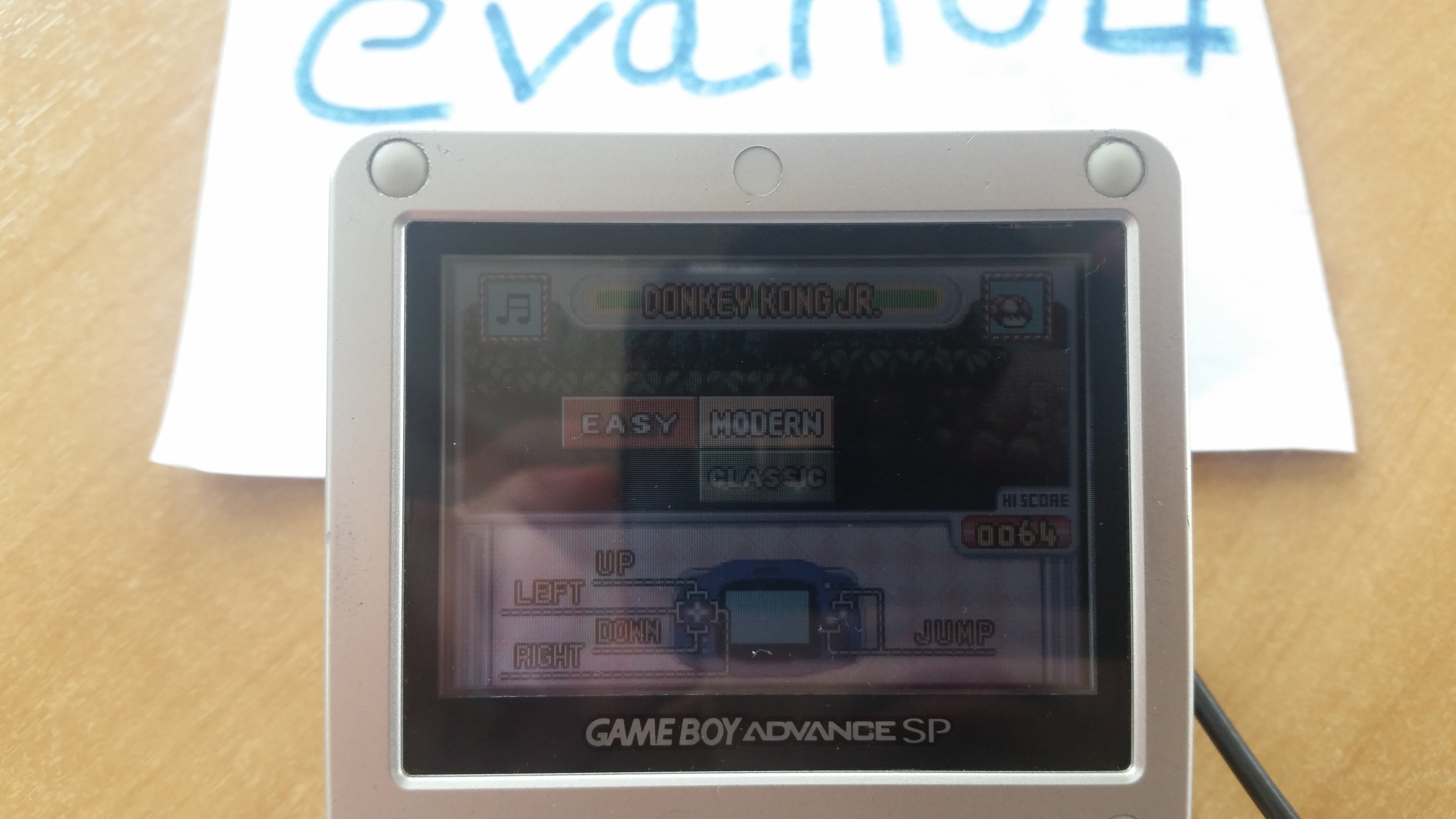 evan04: Game & Watch Gallery 4: Donkey Kong Jr. [Modern: Easy] (GBA) 64 points on 2019-07-27 05:44:08