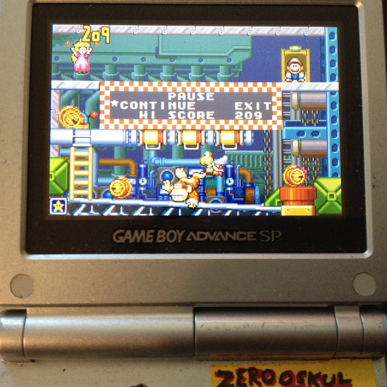 zerooskul: Game & Watch Gallery 4: Donkey Kong [Modern: Very Hard] (GBA) 302 points on 2019-08-10 16:33:27