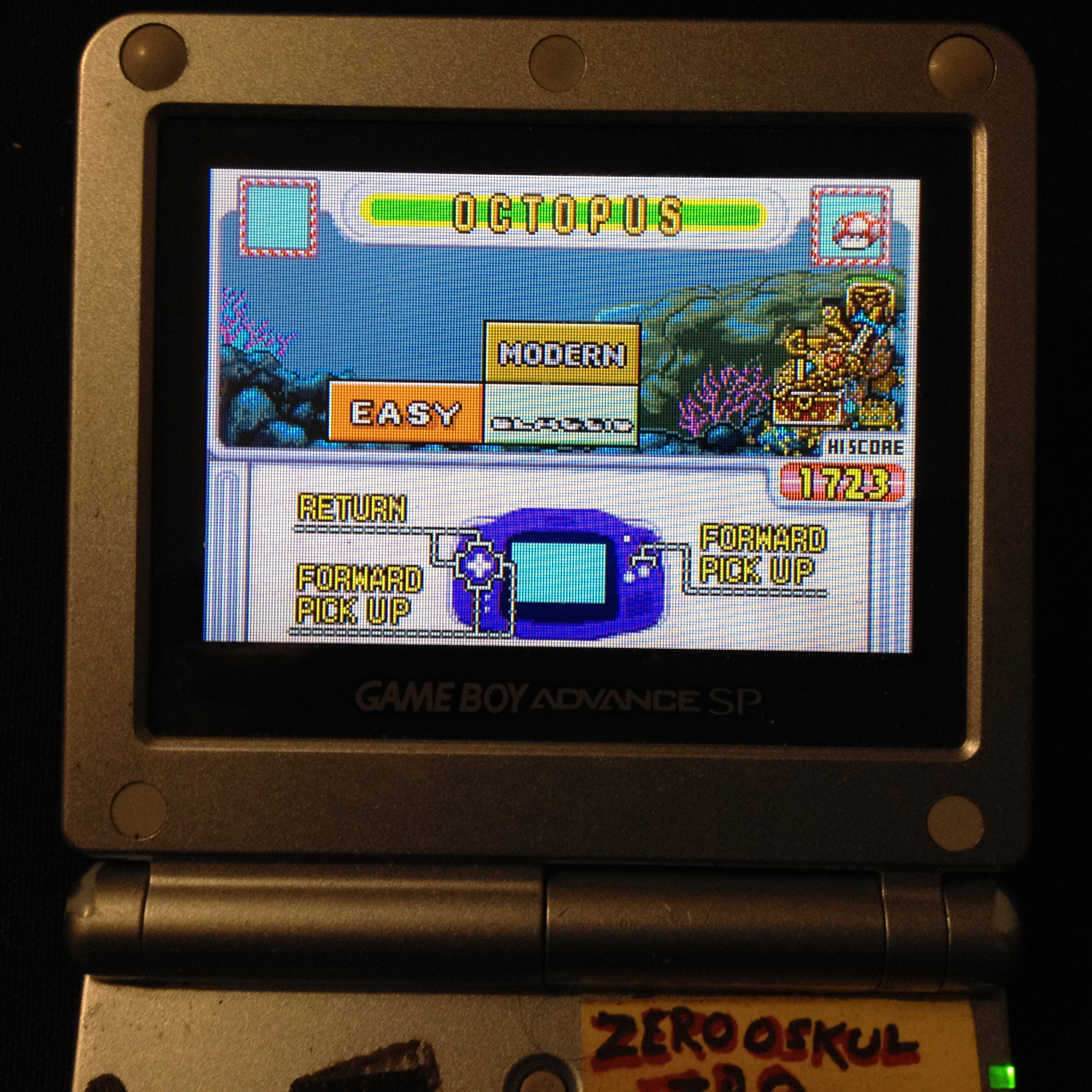 zerooskul: Game & Watch Gallery 4: Octopus [Classic: Easy] (GBA) 1,723 points on 2019-12-09 11:24:39
