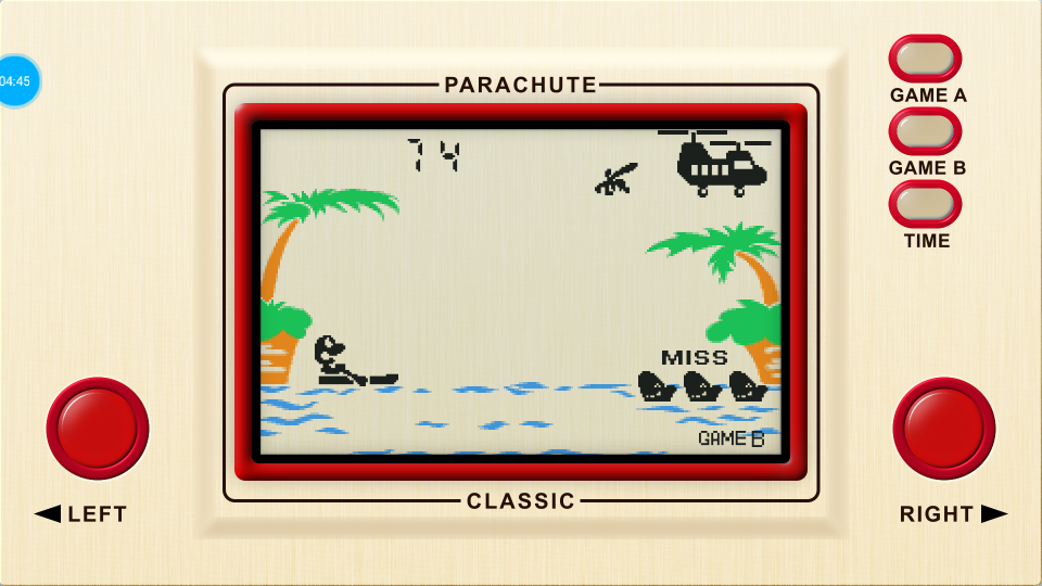 omargeddon: Game & Watch: Parachute [Game B] (Dedicated Handheld Emulated) 74 points on 2018-07-16 16:05:31
