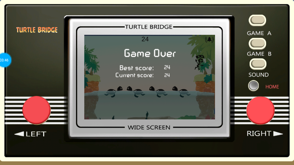 omargeddon: Game & Watch: Turtle Bridge [Game A] (Dedicated Handheld Emulated) 24 points on 2018-07-16 16:06:10