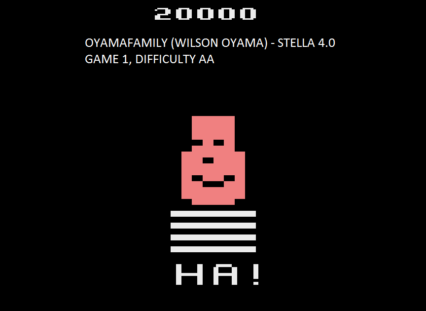 oyamafamily: Gangster Alley (Atari 2600 Emulated Expert/A Mode) 20,000 points on 2015-08-09 05:35:53