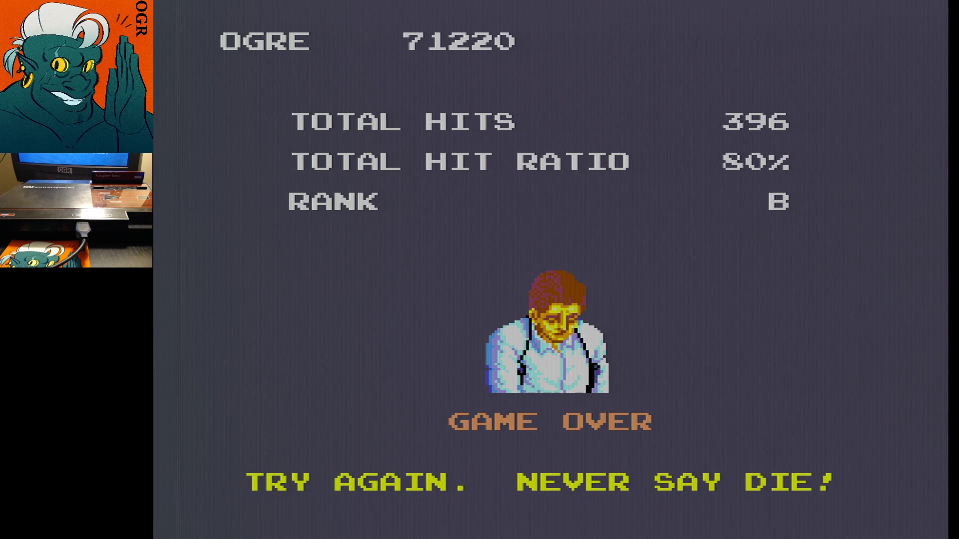 AwesomeOgre: Gangster Town (Sega Master System) 71,220 points on 2020-01-19 05:45:35