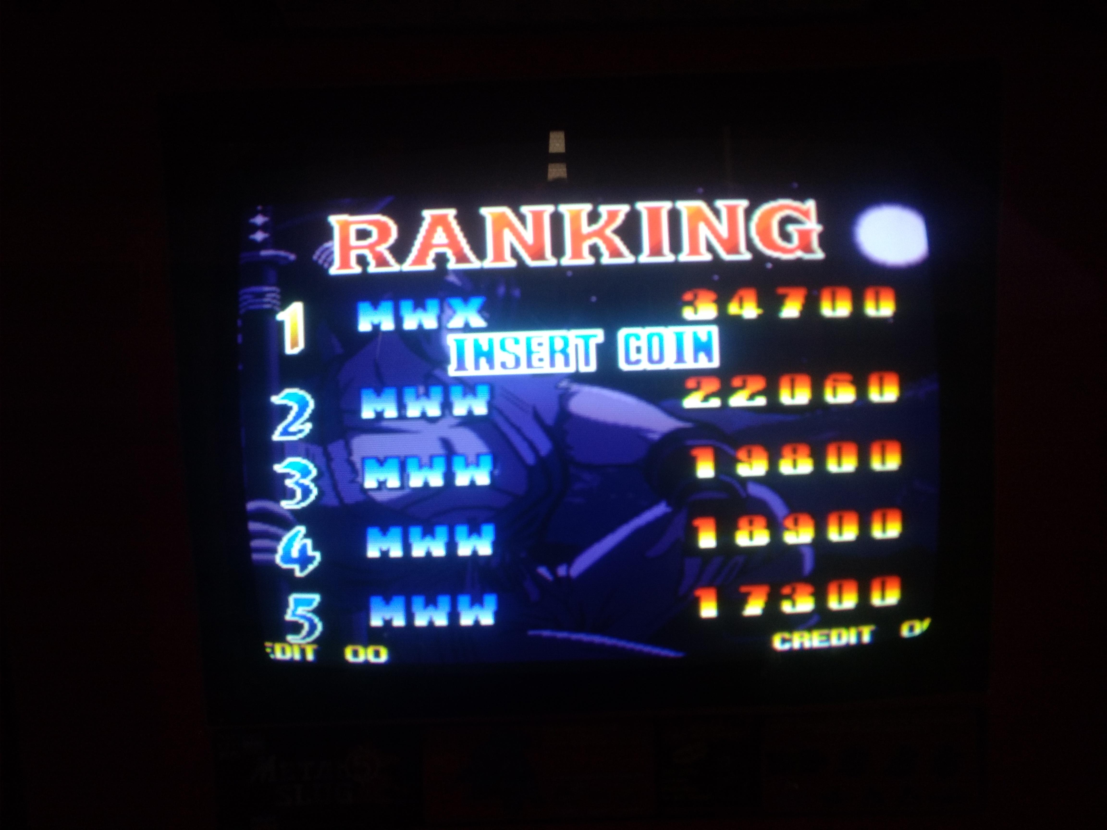 Ganryu 34,700 points