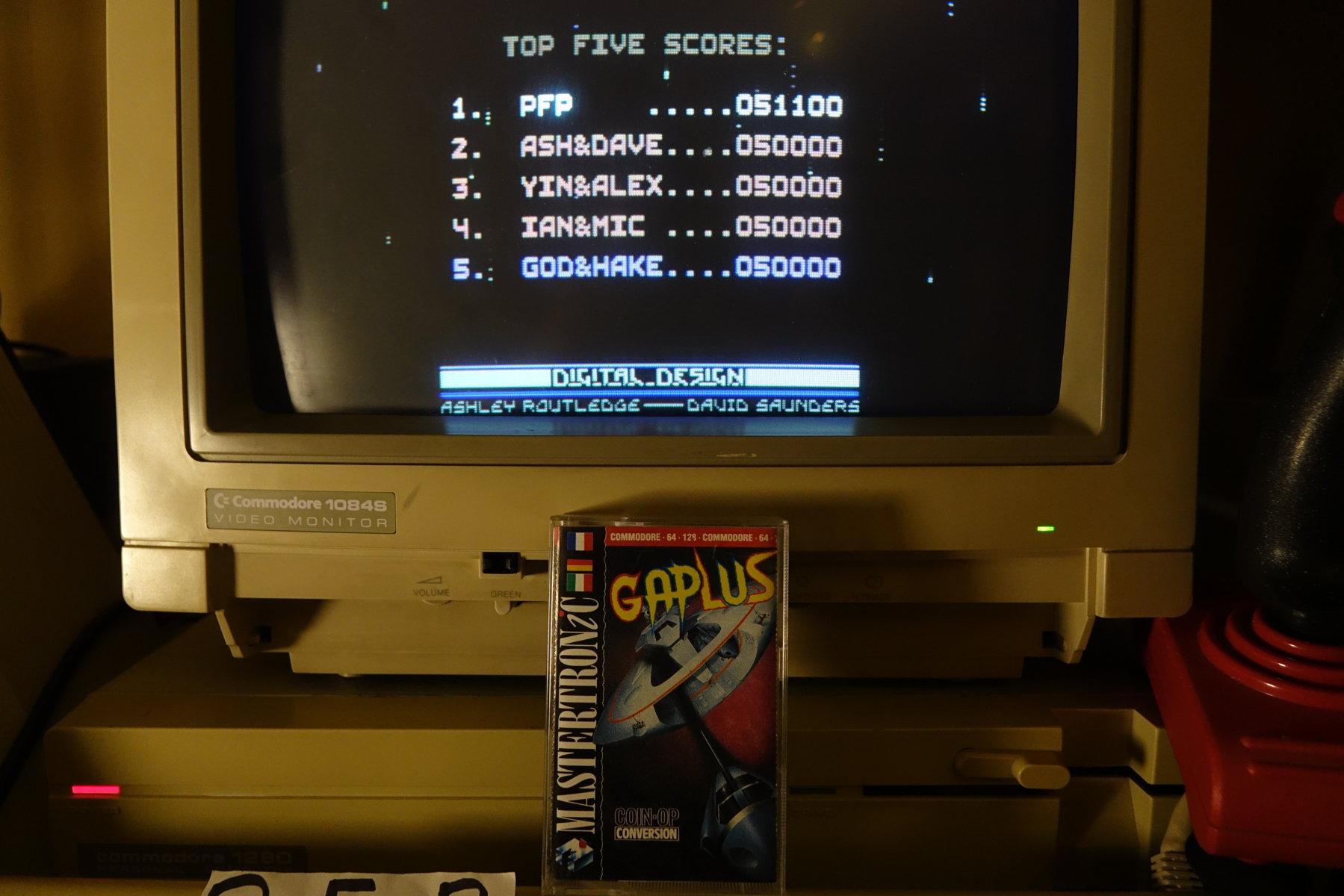 plus4punk: Gaplus (Commodore 64) 51,100 points on 2020-06-20 16:30:35