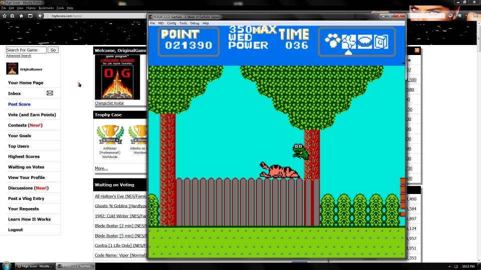 OriginalGamer: Garfield: A Week Of Garfield (NES/Famicom Emulated) 21,390 points on 2016-09-19 01:08:41