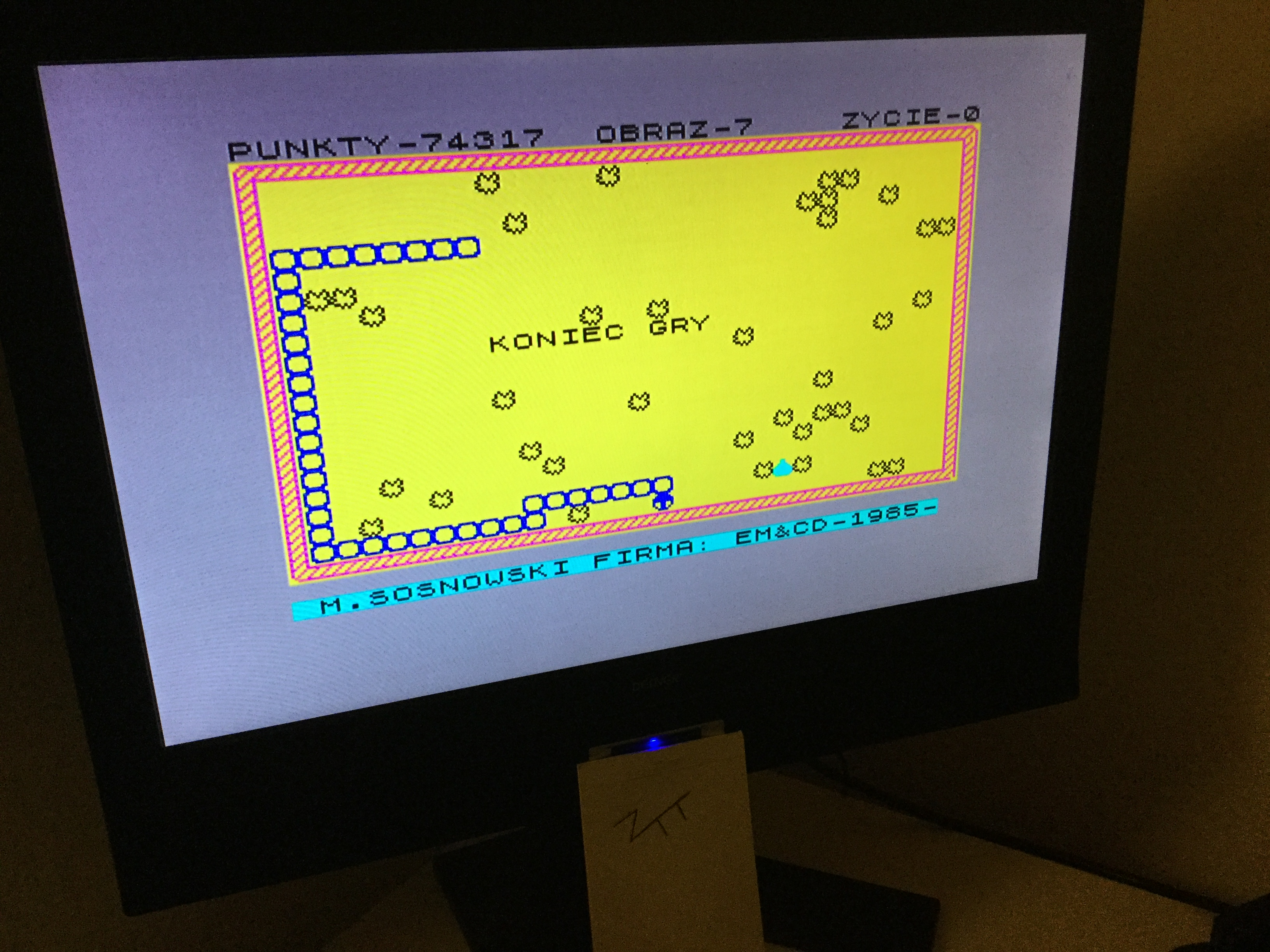 Frankie: Gasienica (ZX Spectrum) 74,317 points on 2020-03-05 03:24:44