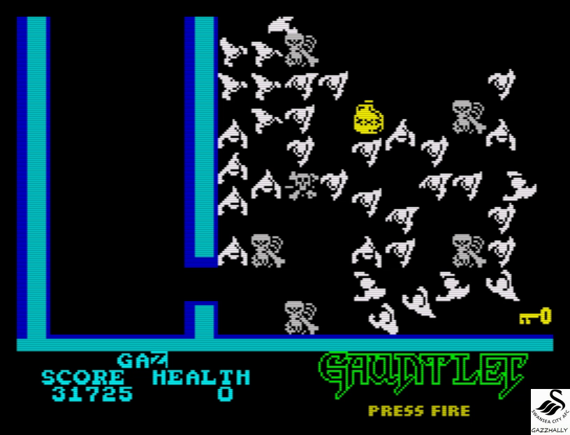 gazzhally: Gauntlet [US Gold] (ZX Spectrum Emulated) 31,725 points on 2017-07-03 05:55:20