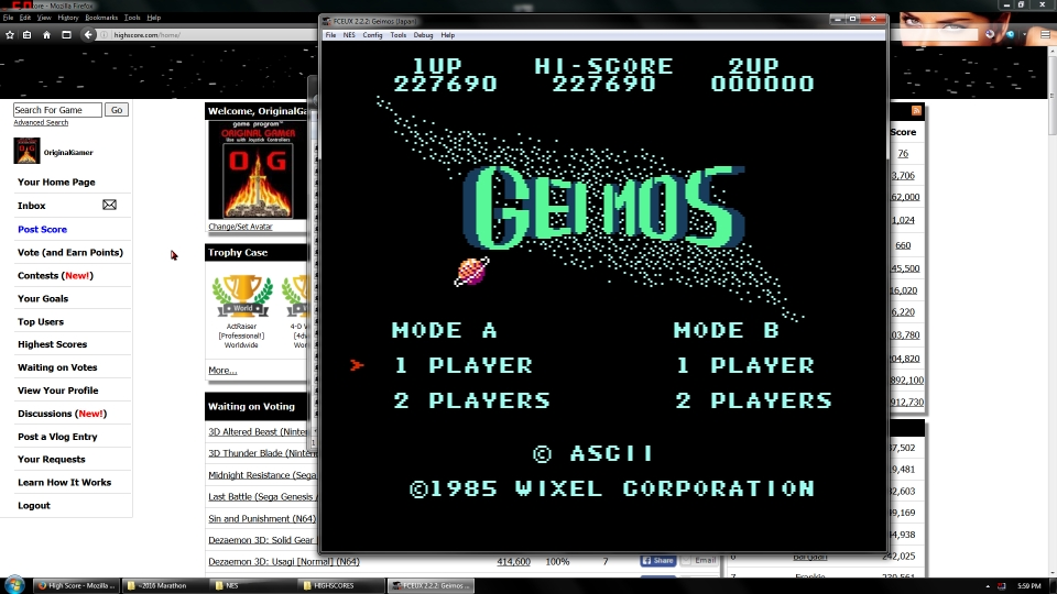 OriginalGamer: Geimos (NES/Famicom Emulated) 227,690 points on 2016-06-30 16:44:42