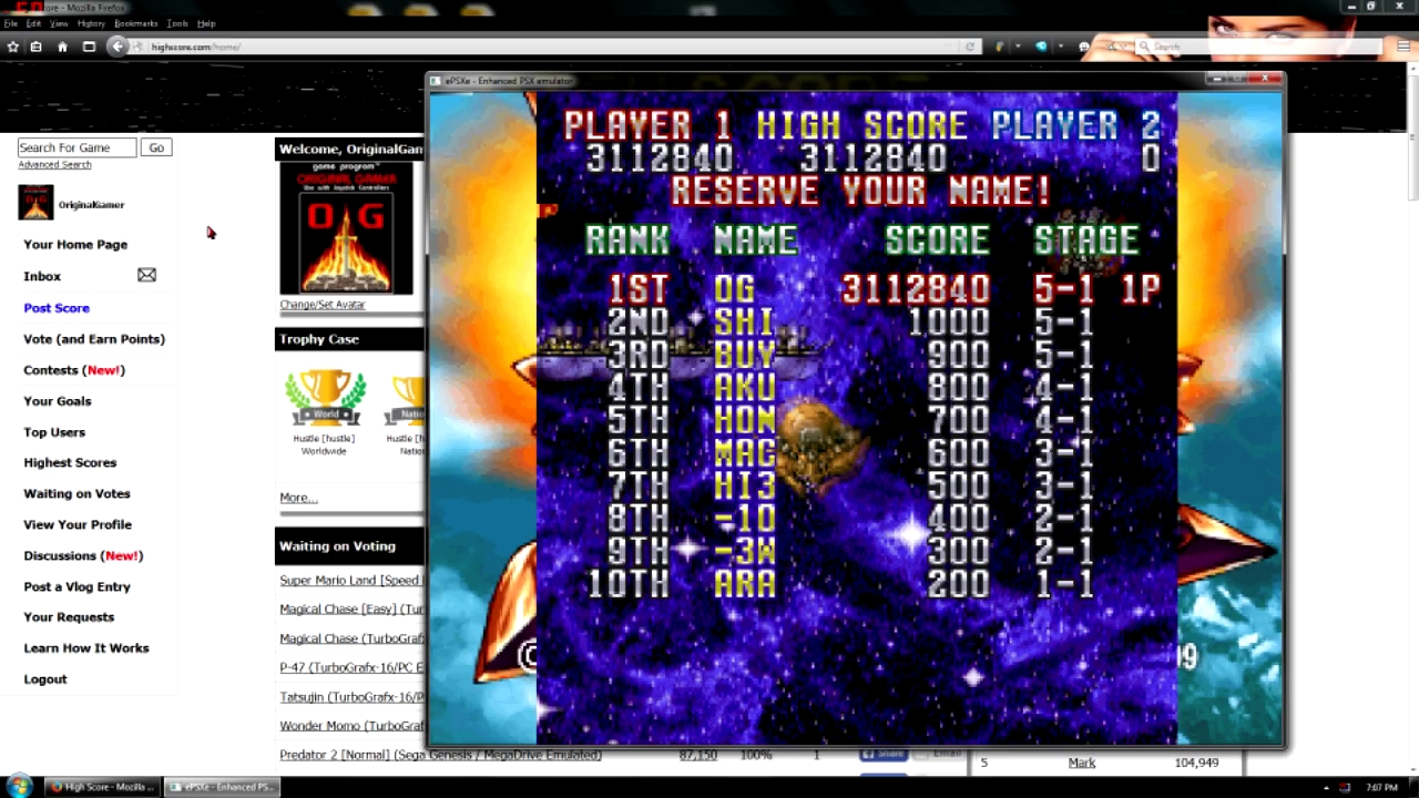 OriginalGamer: Gekioh: Shooting King [Easy Mode] (Playstation 1 Emulated) 3,112,840 points on 2015-12-11 23:44:33