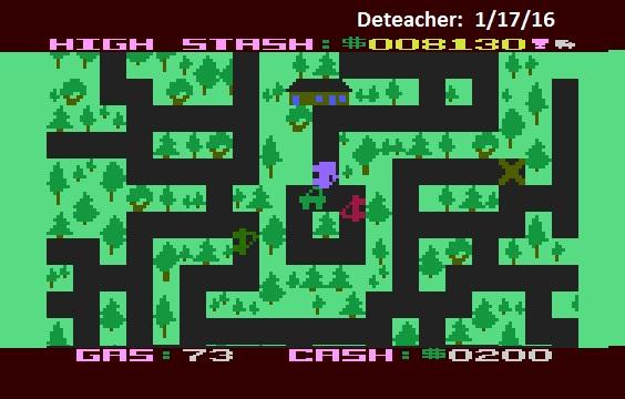 Deteacher: Getaway! (Atari 400/800/XL/XE Emulated) 8,130 points on 2016-01-17 21:07:39