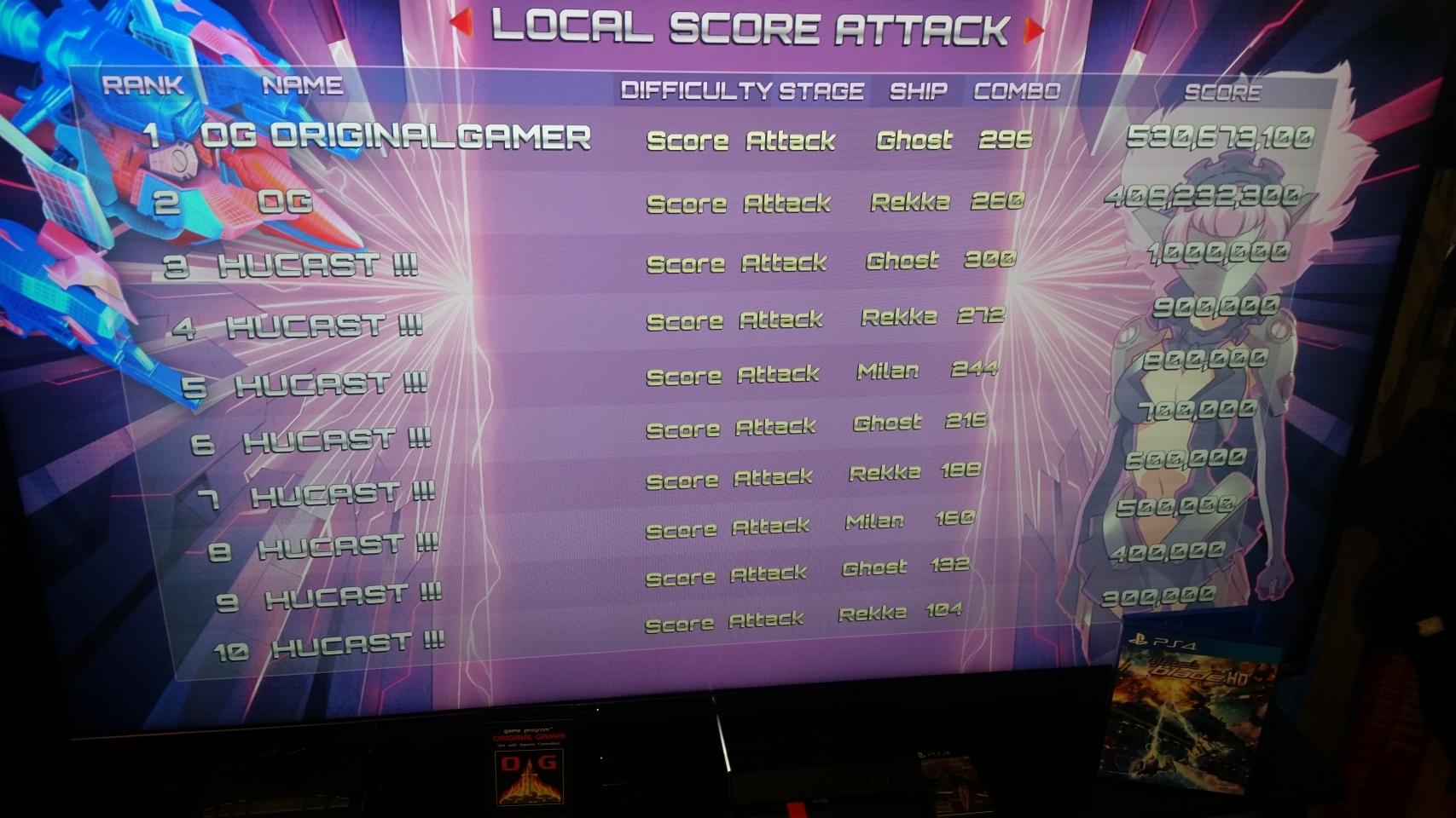 OriginalGamer: Ghost Blade HD [Score Attack] (Playstation 4) 530,673,100 points on 2018-02-02 22:18:12