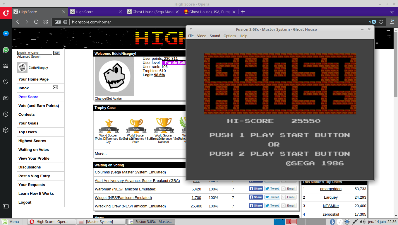EddieNiceguy: Ghost House (Sega Master System Emulated) 25,550 points on 2018-06-14 15:36:32