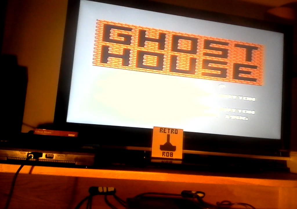 RetroRob: Ghost House (Sega Master System) 40,950 points on 2019-07-15 01:56:45