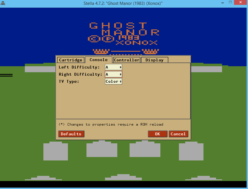 oyamafamily: Ghost Manor (Atari 2600 Emulated Expert/A Mode) 1,400 points on 2017-02-11 14:29:26