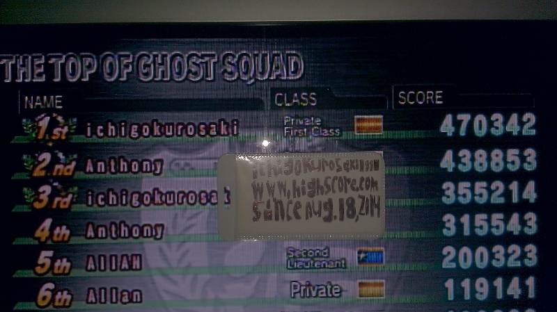 Ghost Squad 470,342 points