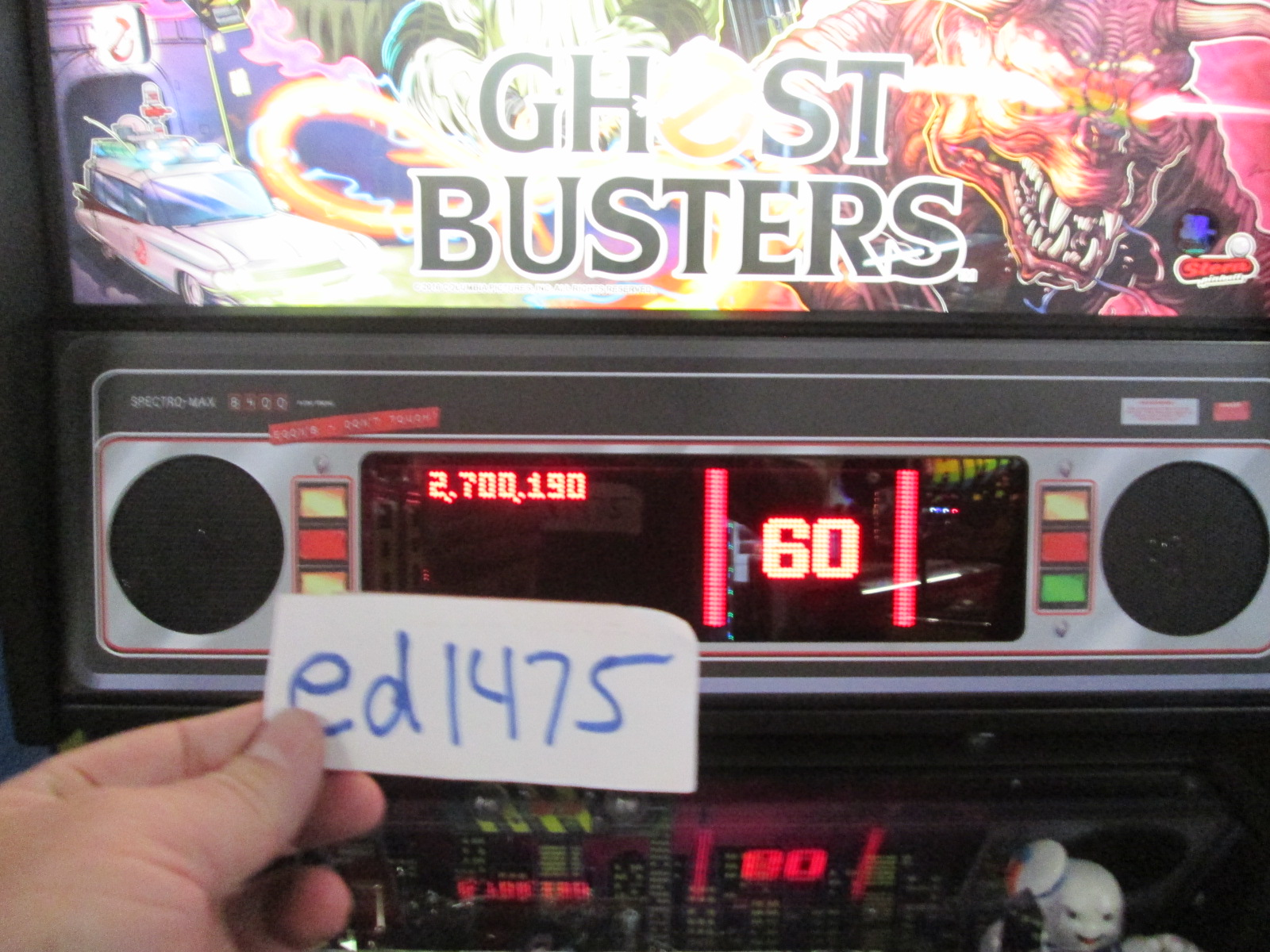 ed1475: Ghostbusters (Pinball: 3 Balls) 2,700,190 points on 2016-08-25 18:53:23
