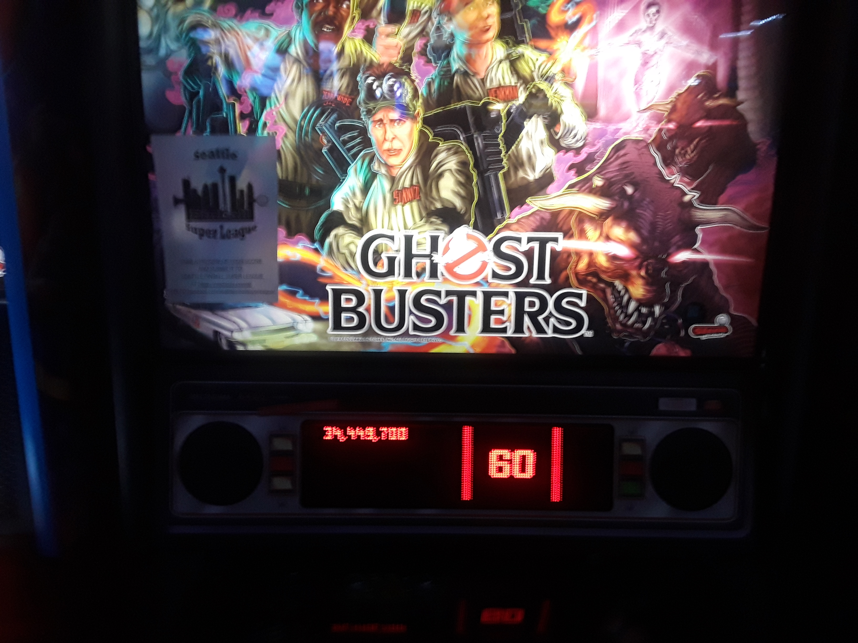 JML101582: Ghostbusters (Pinball: 3 Balls) 34,449,700 points on 2018-10-06 17:48:11