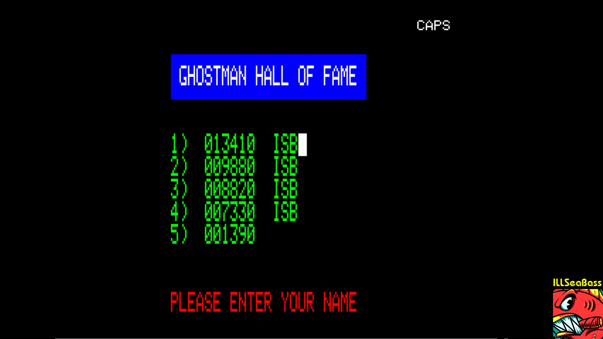 ILLSeaBass: Ghostman (Oric-1 Emulated) 13,410 points on 2018-01-28 02:37:17