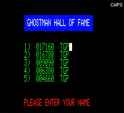 80sChips: Ghostman (Oric-1 Emulated) 17,160 points on 2020-08-06 22:32:19