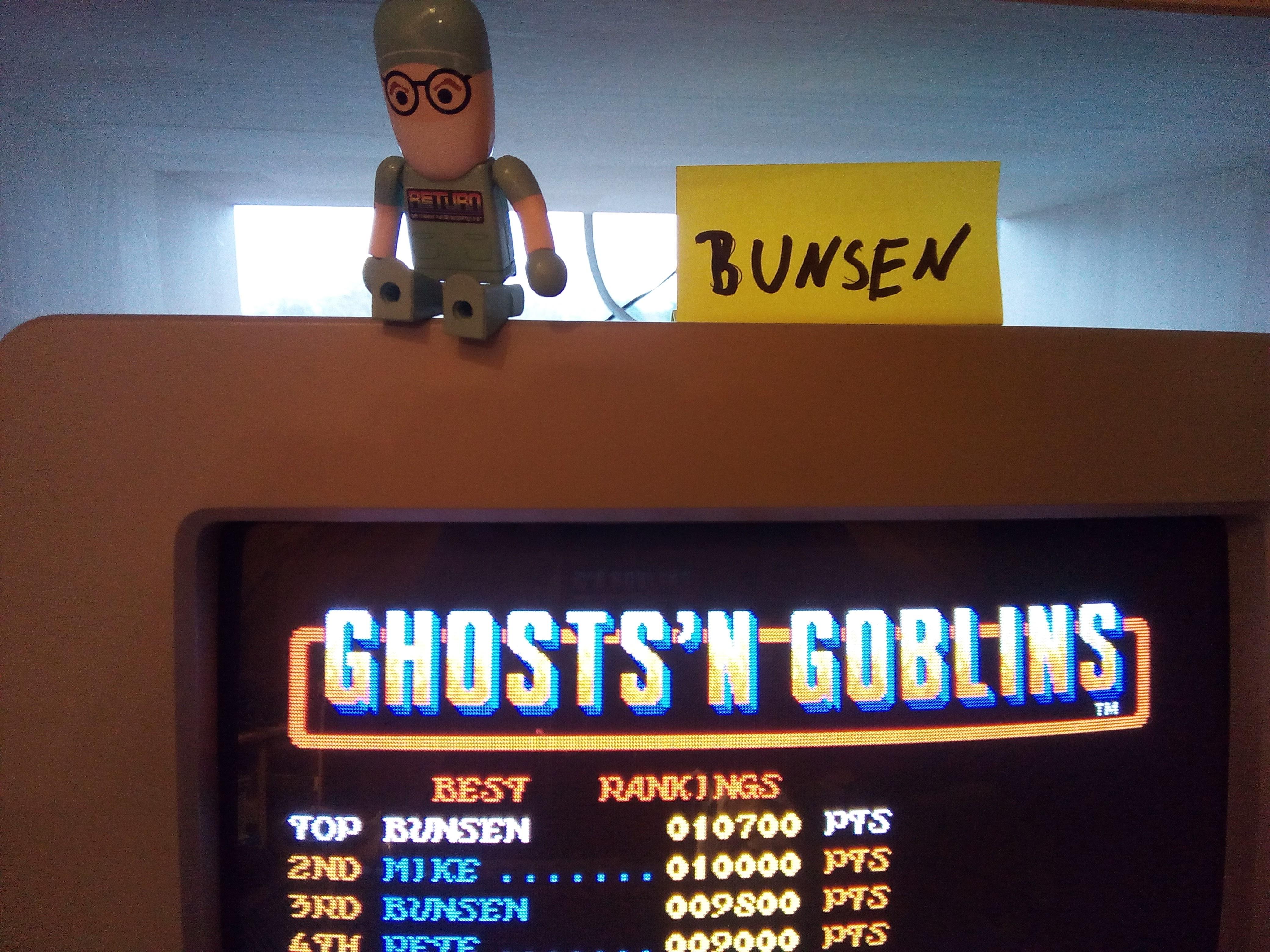 Bunsen: Ghosts N Goblins (Atari ST) 10,700 points on 2017-11-16 12:44:34