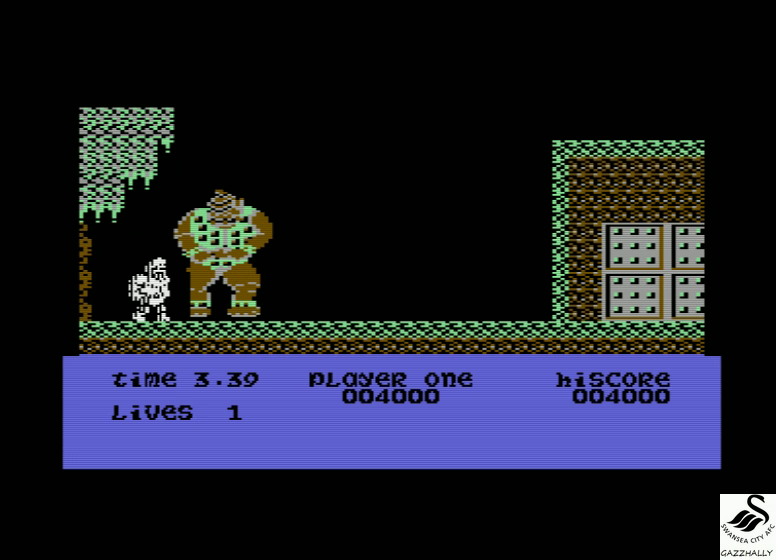 gazzhally: Ghosts N Goblins (Commodore 16/Plus4 Emulated) 4,000 points on 2017-07-10 08:07:00