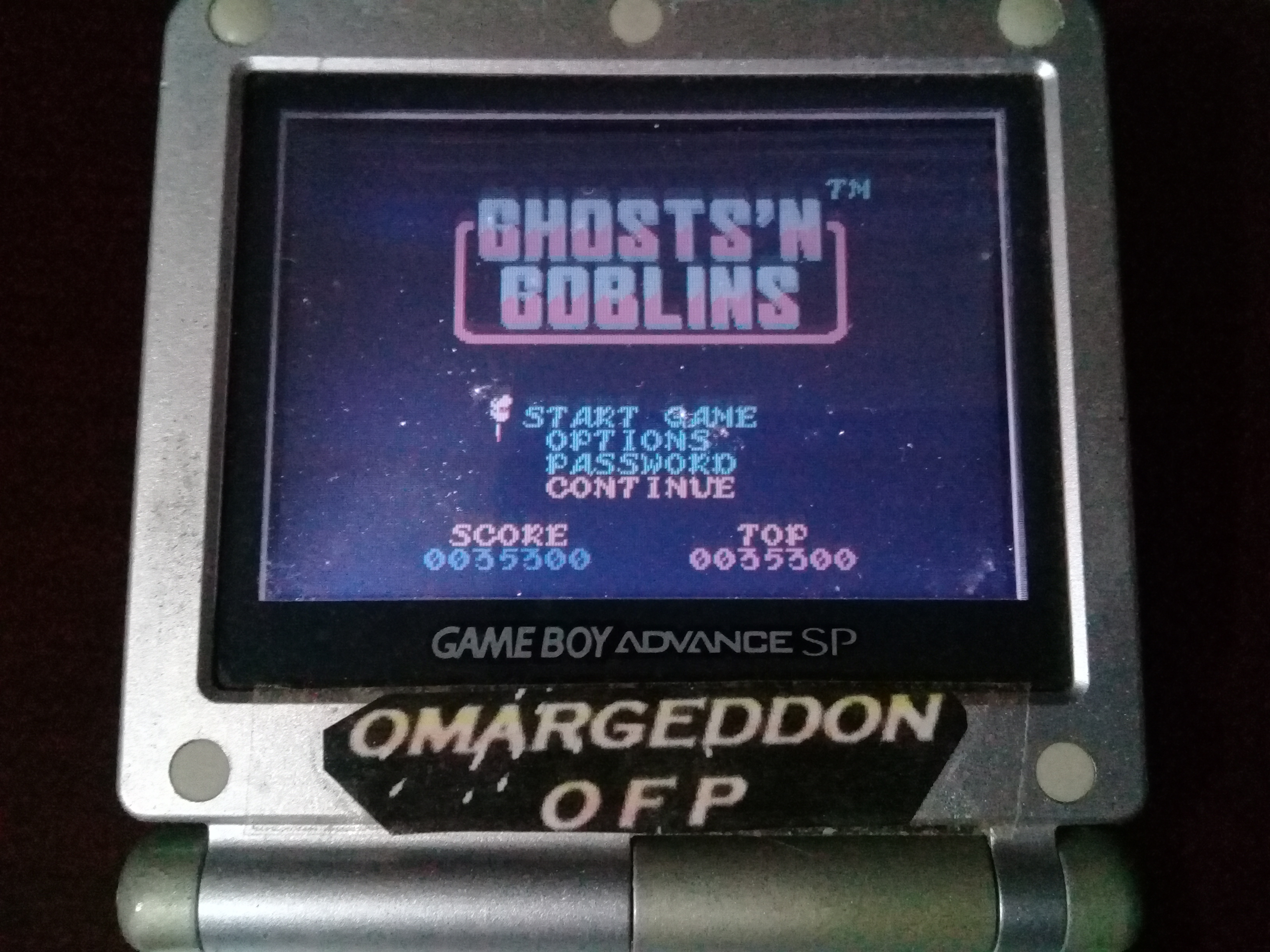 omargeddon: Ghosts N Goblins (Game Boy Color) 35,300 points on 2020-03-04 09:01:07