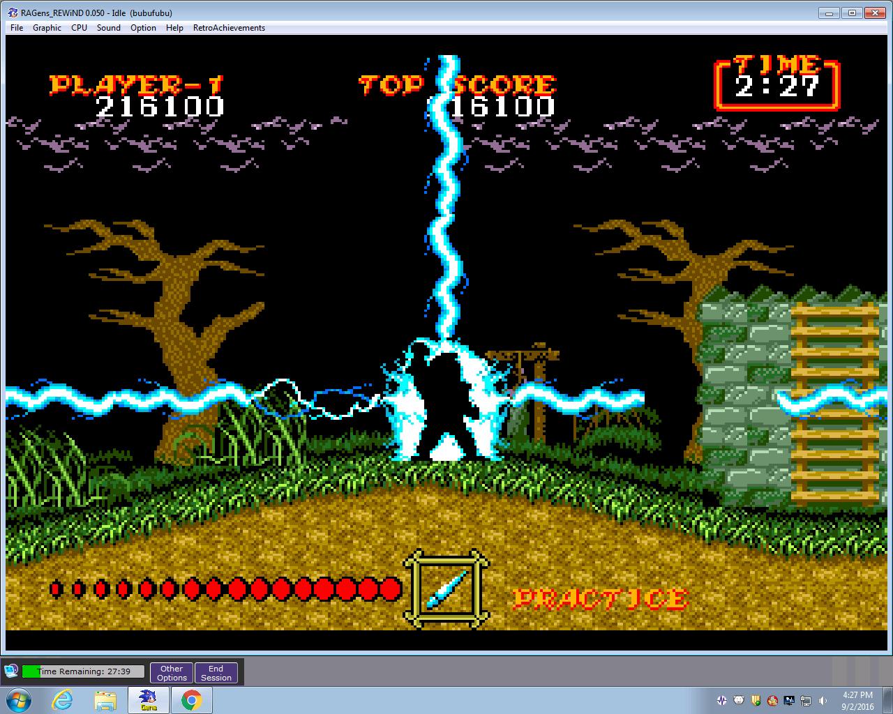bubufubu: Ghouls N Ghosts (Sega Genesis / MegaDrive Emulated) 216,100 points on 2016-09-02 18:38:05