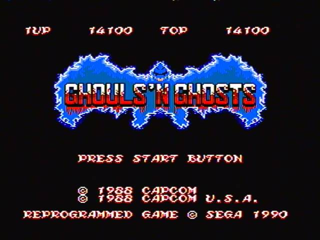 Ghouls N Ghosts 14,100 points