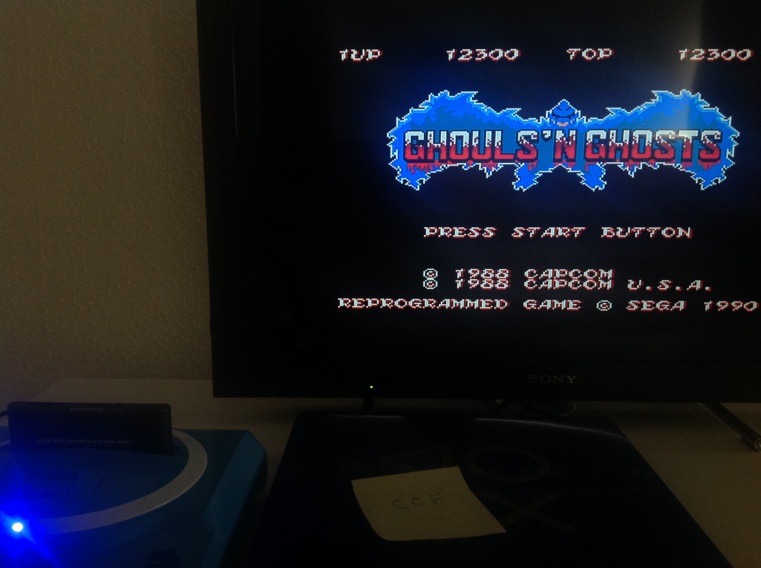 CoCoForest: Ghouls N Ghosts (Sega Master System) 12,300 points on 2018-07-23 11:10:04