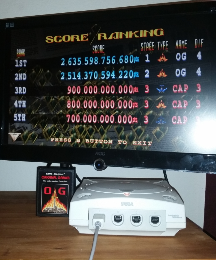 OriginalGamer: Giga Wing 2 [Arcade Mode] (Dreamcast) 2,635,598,756,680 points on 2016-05-14 17:42:23